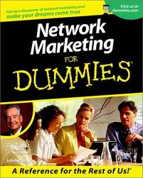 Network Marketing For Dummies Book by Zig Ziglar and John P. Hayes